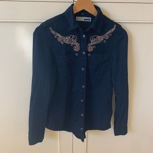 Top shop sequined Western Blouse